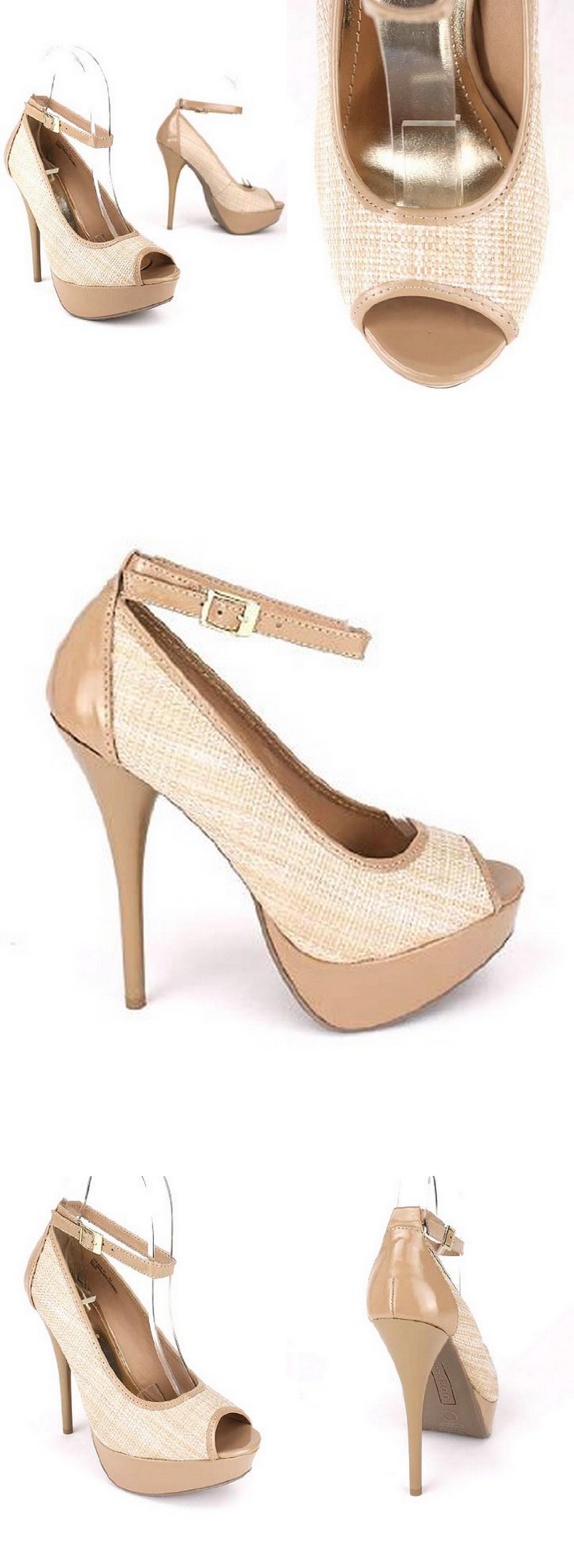 Bamboo Raffia peep toe pump shoe.jpg