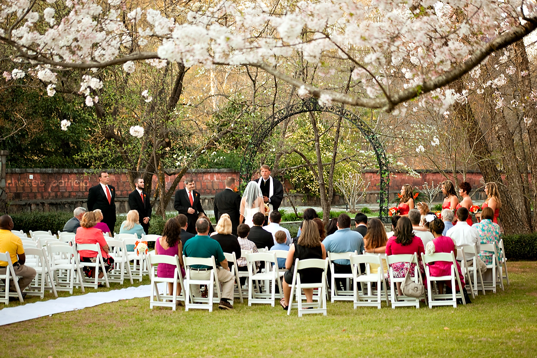 ceremony 00 jasmine hill wedding garden Jasmine Hill Garden Wedding: Karen + Jerrys Orange, Ivory, & Champagne Spring Wedding