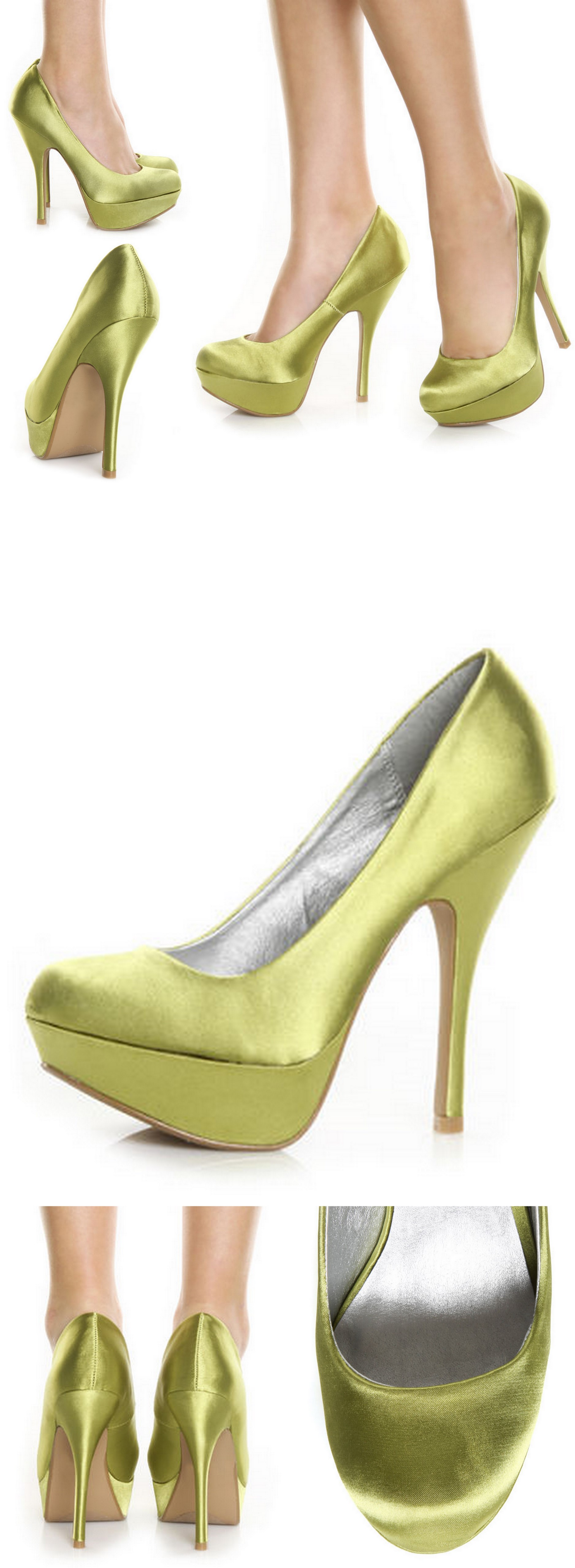 Unique Wedding Shoes Lime Green Satin Luluu0027s