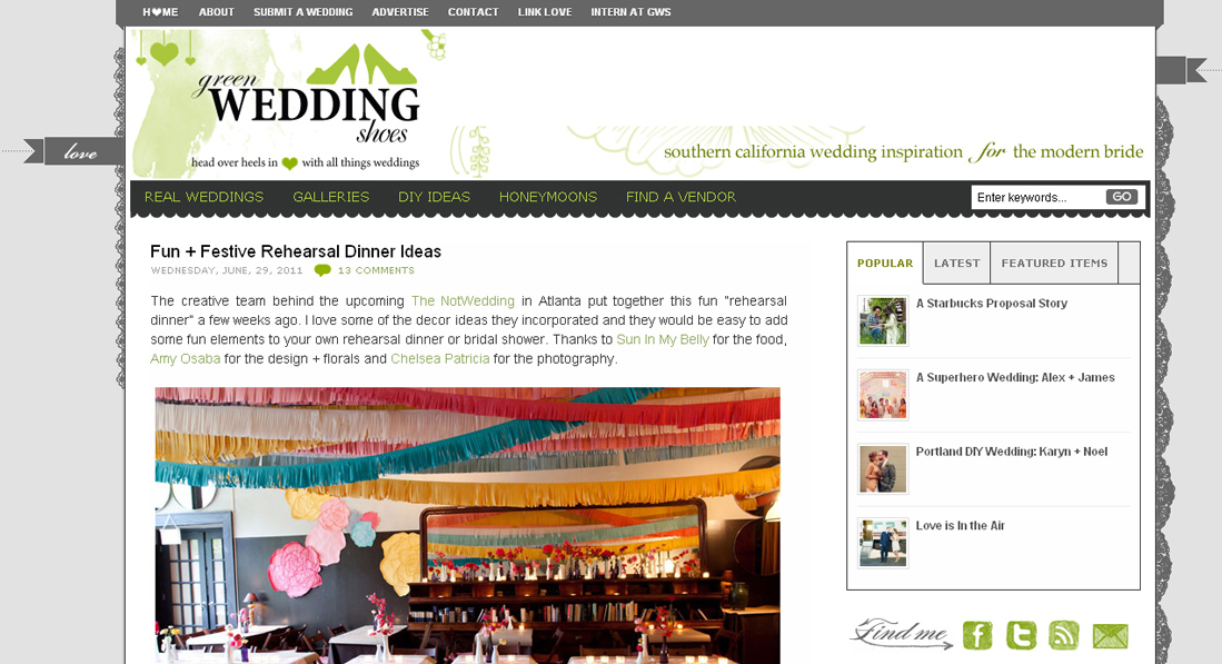 green wedding shoes not wedding 1 Published! The Not Wedding Rehearsal: Featured on Green Wedding Shoes & Occasions Online