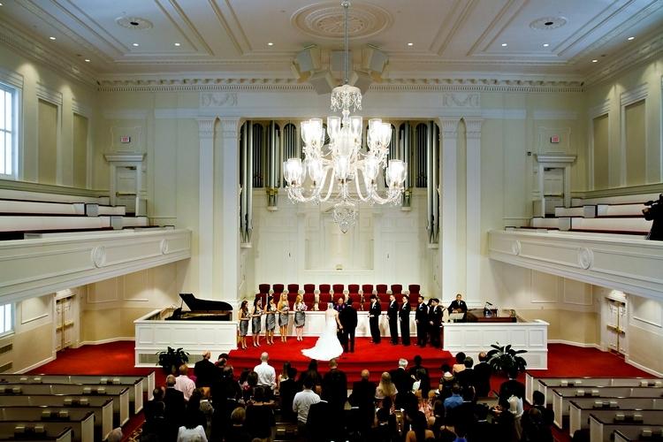Wedding ceremony at Second Ponce de Leon Baptist Church in Atlanta, GA
