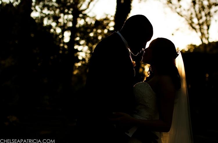 bride and groom at Callanwolde Fine Arts Center in Atlanta