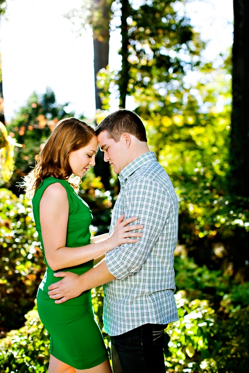 Atlanta botanical gardens engagement shoot