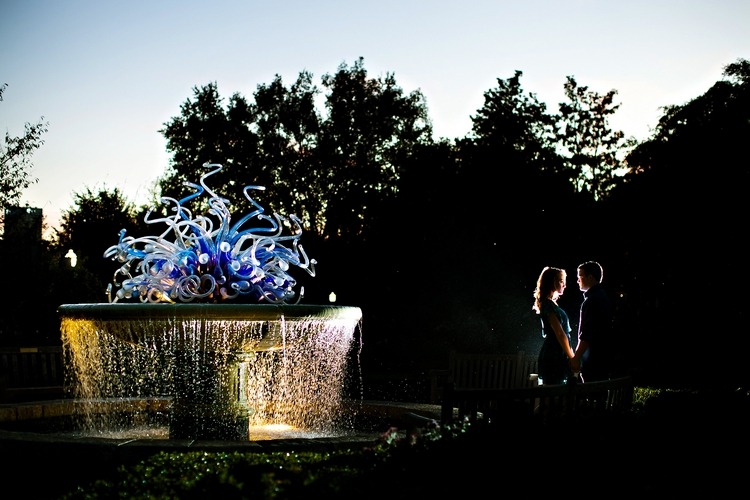 artistic engagement photo atlanta botanical gardens