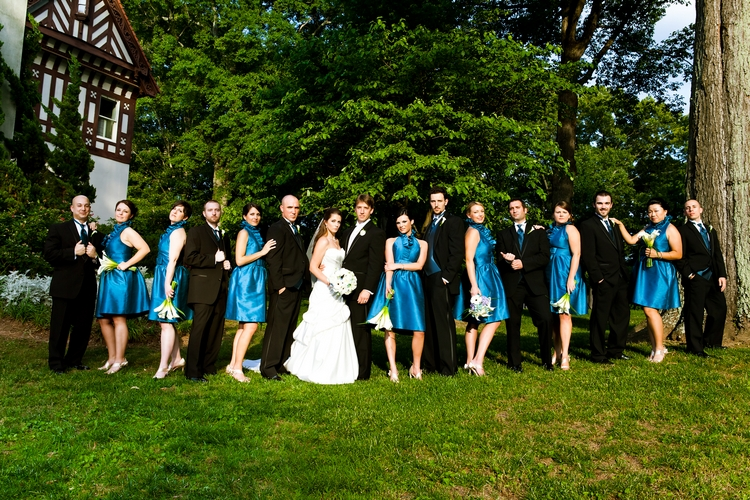 Full bridal party at Callanwolde in Atlanta