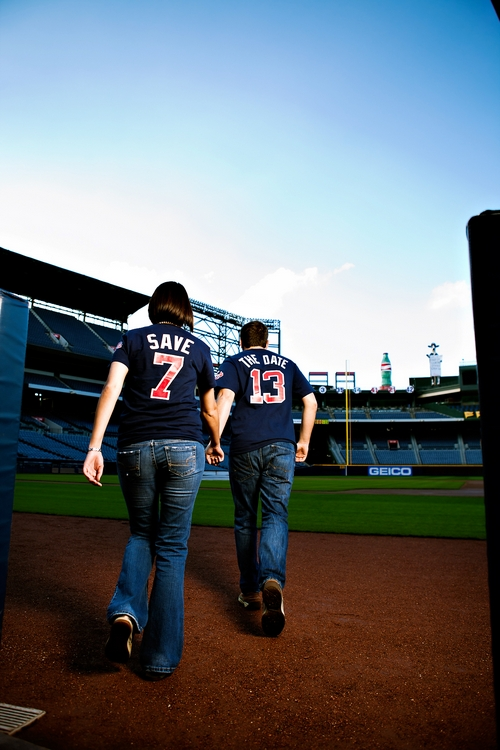 Turner Field engagement photos