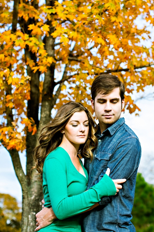 autumn engagement photography
