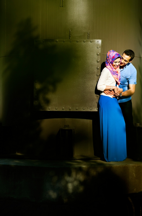 intimate muslim engagement photos