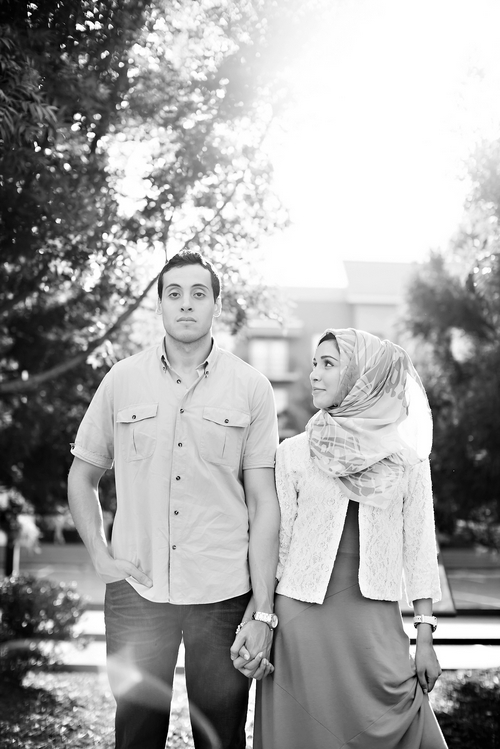 cool muslim engagement photography in atlanta