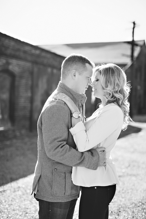 engagement photography at the goat farm atlanta