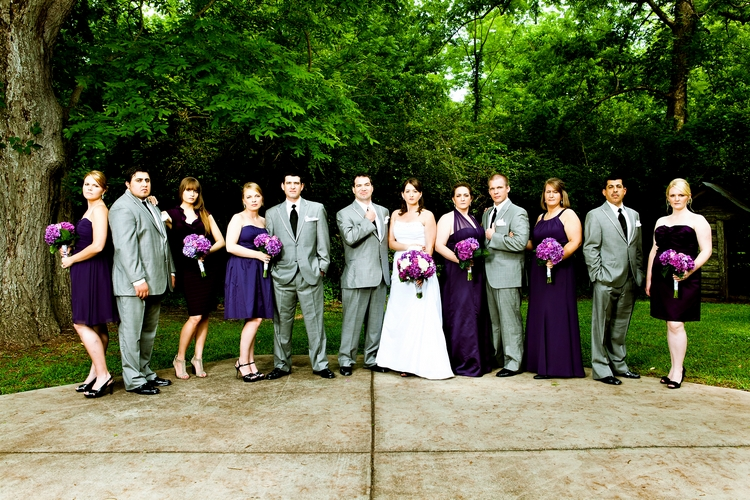 cool bridal party shots