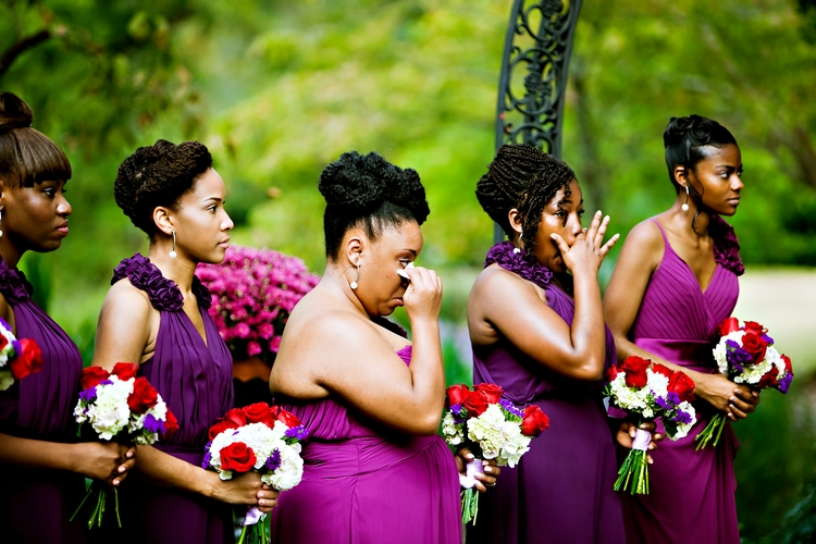 bridesmaids crying at jasmine hill garden wedding montgomery al