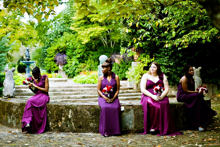 bridesmaids waiting at jasmine hill wedding montgomery al