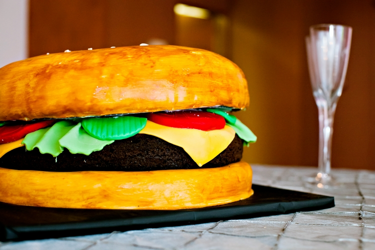 hamburger groom's cake