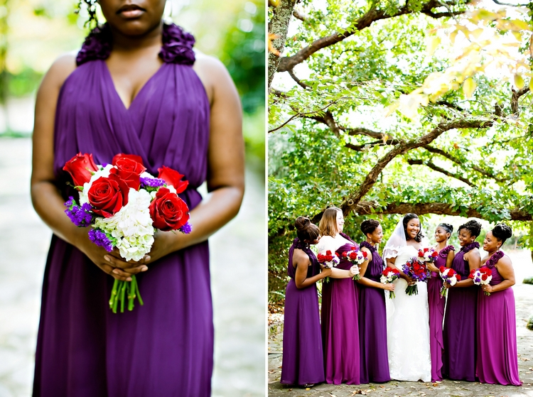 purple and fuschia Jasmine Hill Gardens Wedding Wetumpka AL