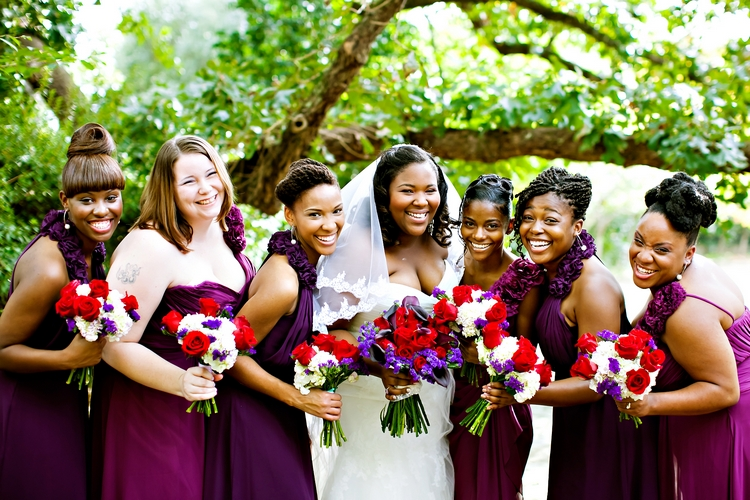 laughing bridal party at jasmine hill wedding