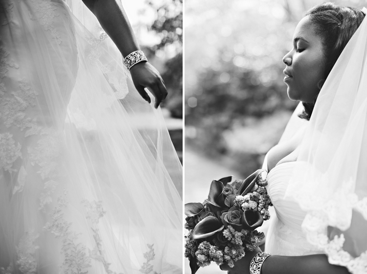 black bride at Jasmine Hill Gardens Wedding Wetumpka AL
