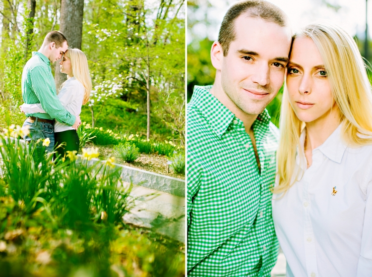 engagement photos at the atlanta botanical garden