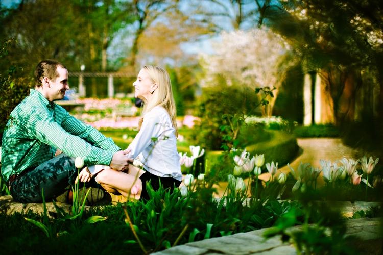 real couples engagement photos at atlanta botanical garden