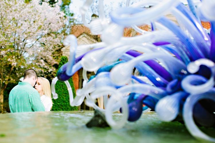sexy atlanta botanical garden engagement photos