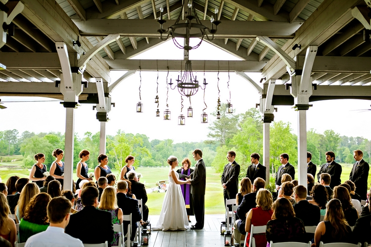 wedding ceremony at atlanta national golf club