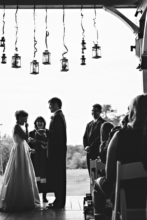 wedding ceremony at atlanta national golf club wedding