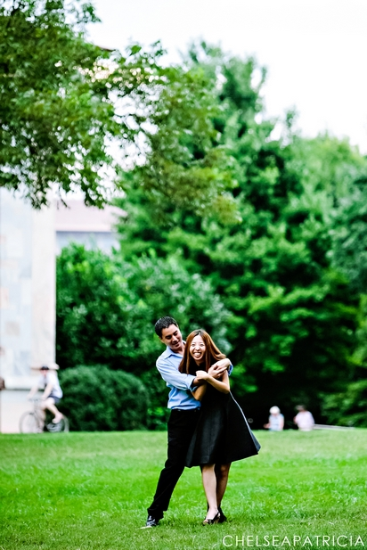 engagement photos at emory university