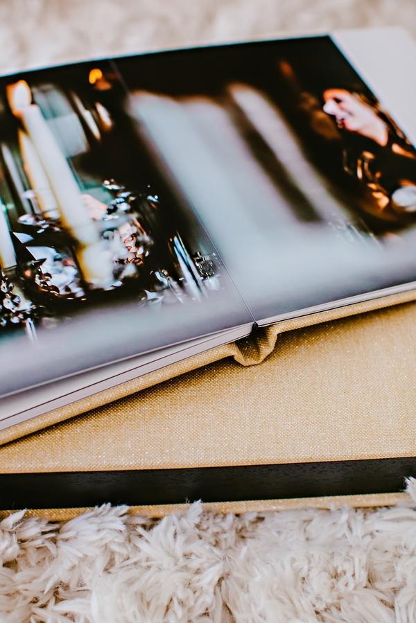 leather wedding album atlanta wedding photographer