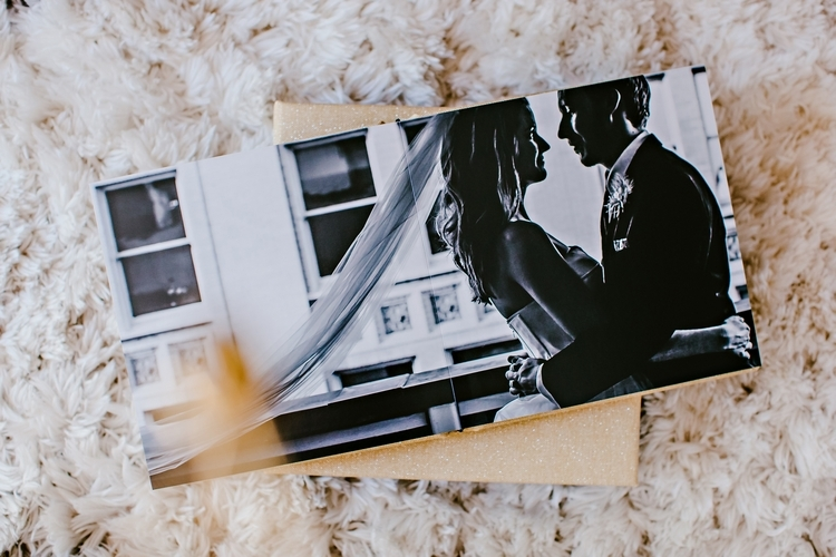 leather wedding album atlanta wedding photographer
